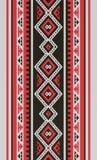 红色和黑传统伙计Sadu阿拉伯手编织的样式 免版税库存照片