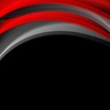 红色和黑使波浪公司背景光滑 库存照片