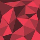 红色和黑多角形背景 免版税库存照片