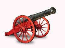 红色和黑大炮 库存图片