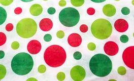 红色和绿色圆点 免版税库存照片