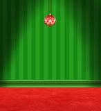 红色和绿色圣诞节室 库存例证