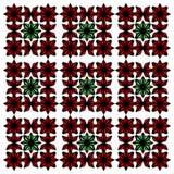 红色和绿色独特的抽象样式 库存照片