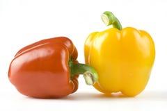 红色和黄色甜椒 库存照片