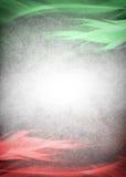 红色和绿色背景准备好您的文本 免版税库存照片