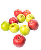 红色和绿色苹果计算机III 库存照片