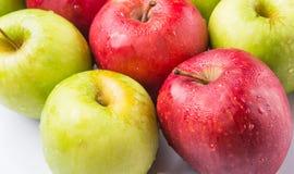 红色和绿色苹果计算机IX 库存照片