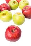 红色和绿色苹果计算机VIII 库存照片