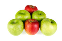 红色和绿色苹果- 05 库存照片