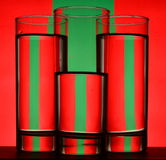 红色和绿色 免版税库存照片