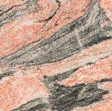 红色和黑花岗岩 免版税库存照片