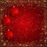 红色和gloden圣诞节背景 库存照片