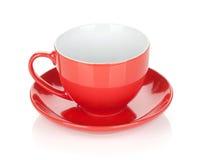 红色咖啡杯 免版税库存照片
