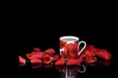 红色咖啡杯 库存图片
