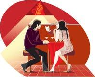 红色咖啡馆 库存图片