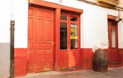红色咖啡馆 免版税图库摄影