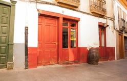 红色咖啡馆 库存照片