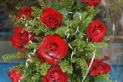 红色唤醒花束  图库摄影