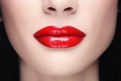 红色嘴唇 免版税库存照片