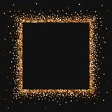 红色圆的金子闪烁 皇族释放例证