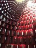 红色圆筒塔的被遮蔽的样式 免版税图库摄影