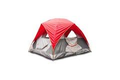 红色圆顶帐篷 免版税库存照片