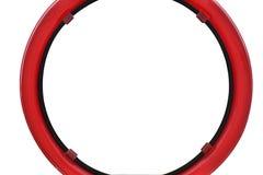红色圈子框架 免版税库存照片