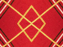 红色圈织品 库存图片