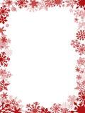 红色圣诞卡框架 免版税库存图片