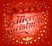 红色圣诞快乐背景 库存图片