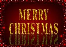红色圣诞快乐问候 免版税库存图片
