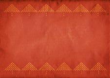 红色圣诞树背景 库存照片