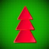 红色圣诞树 免版税库存照片