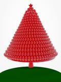 红色圣诞树 库存照片