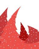 红色圣诞树 库存图片