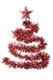 红色圣诞树 免版税库存图片