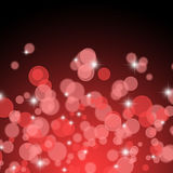 红色圣诞灯抽象背景 库存照片