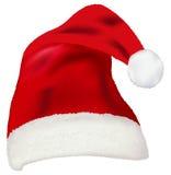 红色圣诞老人帽子传染媒介  免版税图库摄影