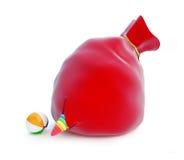 红色圣诞老人的袋子玩具 免版税图库摄影