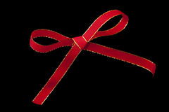 红色圣诞节丝带 库存照片