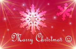 红色圣诞节假日明信片 免版税库存照片
