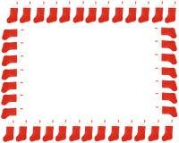 红色圣诞节储存边界 免版税库存图片