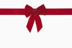 红色圣诞节弓 库存照片