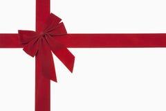 红色圣诞节弓 免版税图库摄影