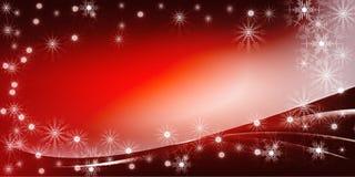 红色圣诞节明亮的梯度背景 图库摄影