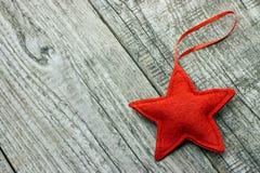 红色圣诞节星 库存图片