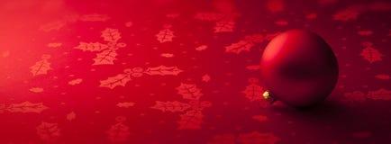 红色圣诞节横幅背景 免版税库存图片
