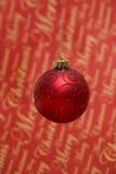 红色圣诞节泡影 库存照片