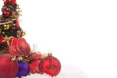 红色圣诞节球 免版税图库摄影