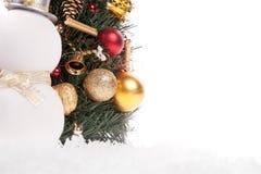 红色圣诞节球 免版税库存照片